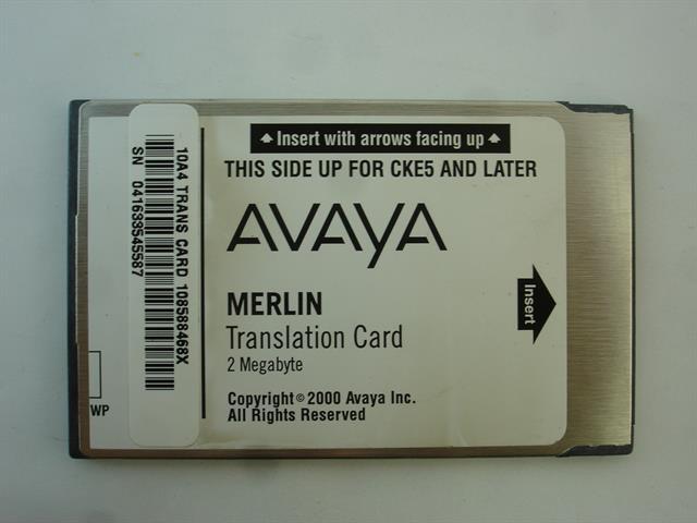 AT&T/Lucent/Avaya 108588468 / Translation Card PCMCIA Card image