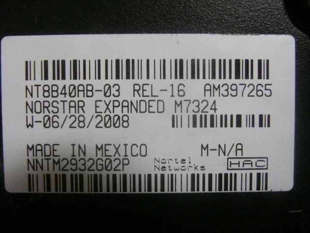 M7324 / NT8B40 - NT8B42 (Black) Nortel image