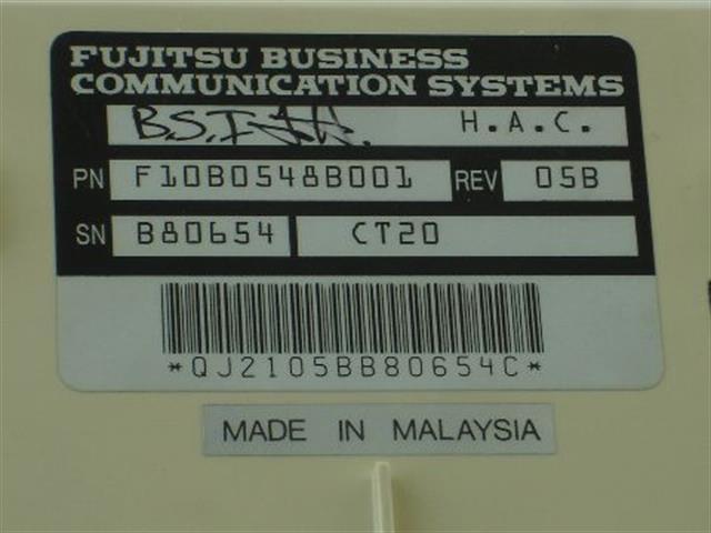 F10B-0548-B001 Fujitsu image