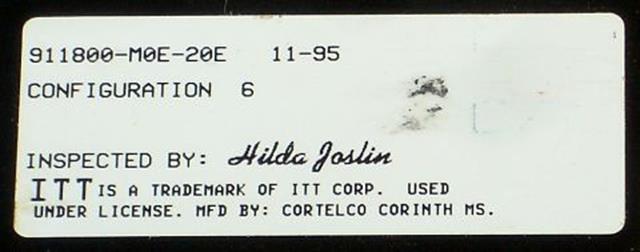 911800-M0E-20E (NIB) ITT Cortelco eOn image