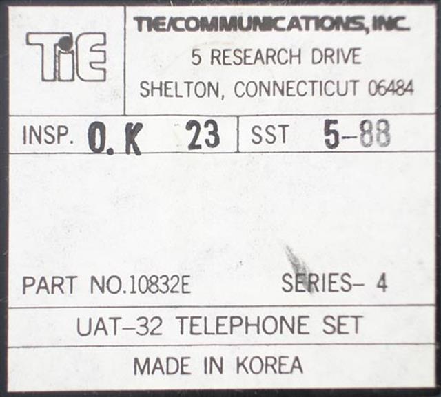 Tie 10832E - UAT-32E (B-Stock) Phone image