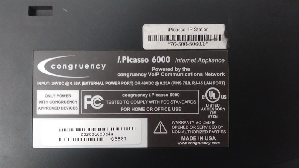 Telrad i.Picasso 76-500-5060 Blue Color Touchscreen VoIP Telephone image