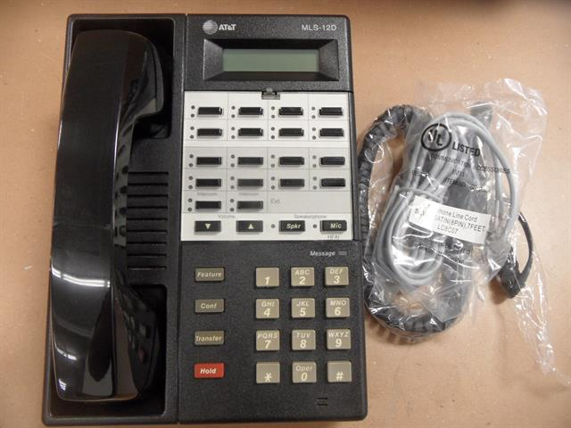 Avaya (Lucent, AT&T) MLS 12D 107092157 Black 18 Button Digital Telephone with Speakerphone and Display image