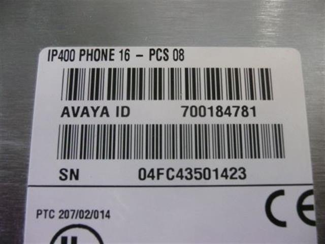 700184781 / P16 V1 Avaya image