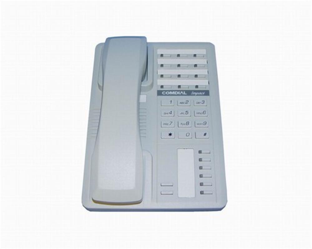 Comdial Impact SCS 8212S-PT Platinum Grey 12 Button Digital Telephone with Speakerphone image