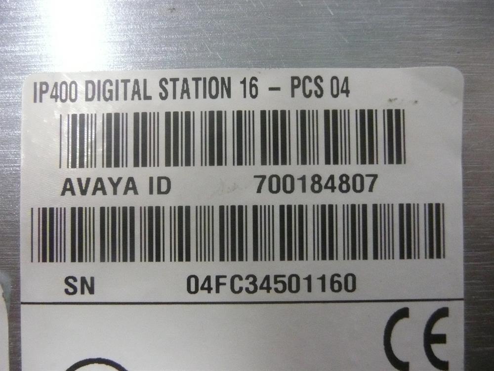 700184807 / DS16 V1 Avaya image
