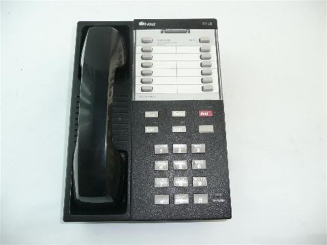 AT&T Definity 8110 Black Single Line Telephone with 12 Programmable Buttons image