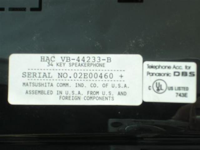 VB-44233-B Panasonic image