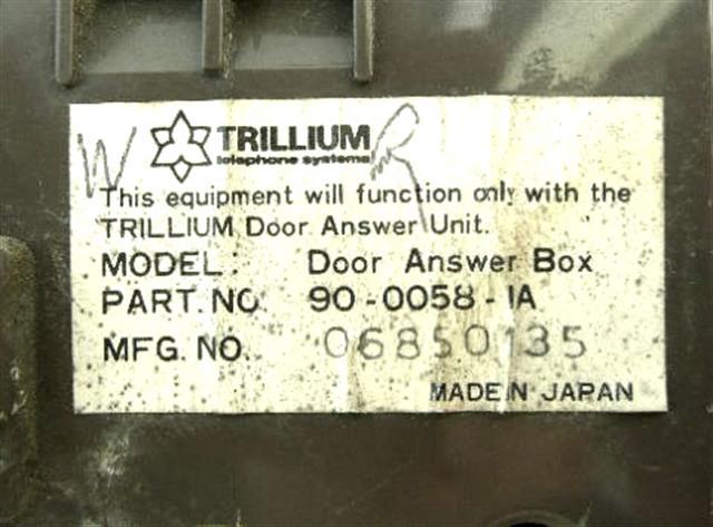 Trillium 90-0058 Unit image
