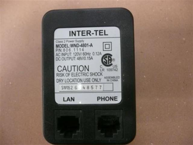 Inter-Tel WND-4801-A / 806.1114 Power Supply image