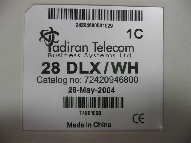 28 DLX/WH / 72420946800 Tadiran image