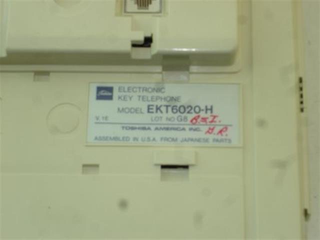 6020-H White/Maroon Toshiba image
