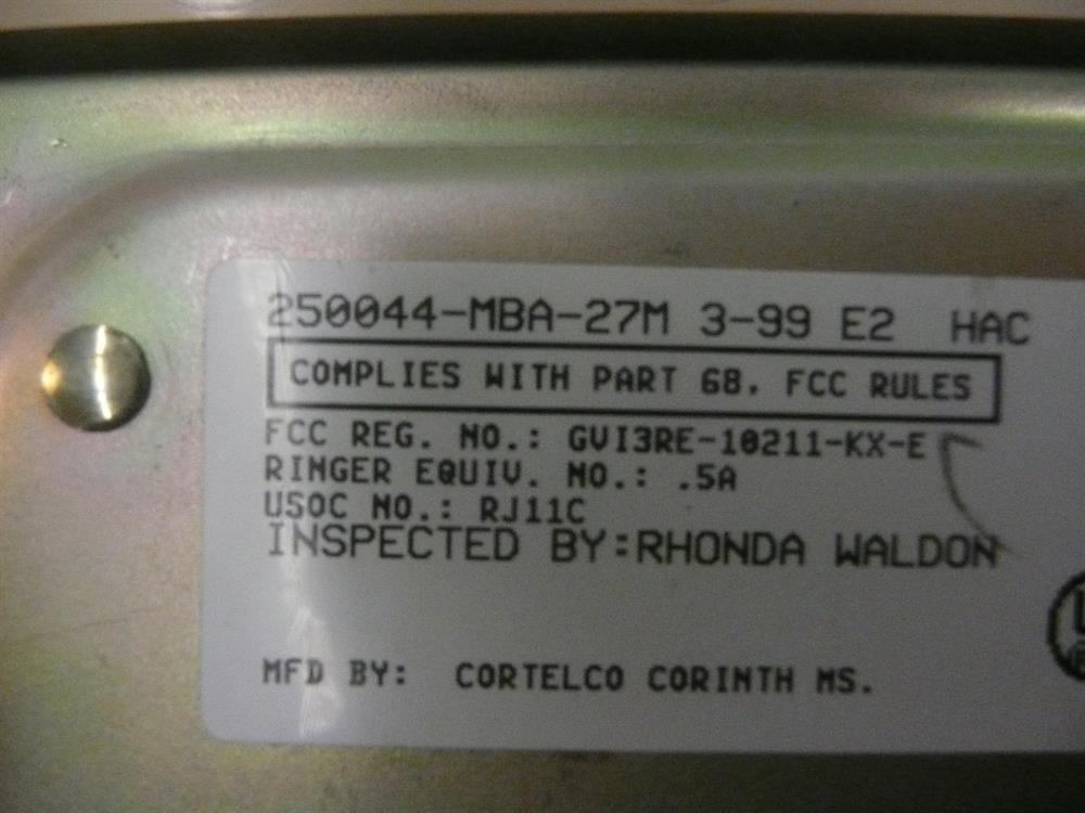 250044-MBA-27M ITT Cortelco image