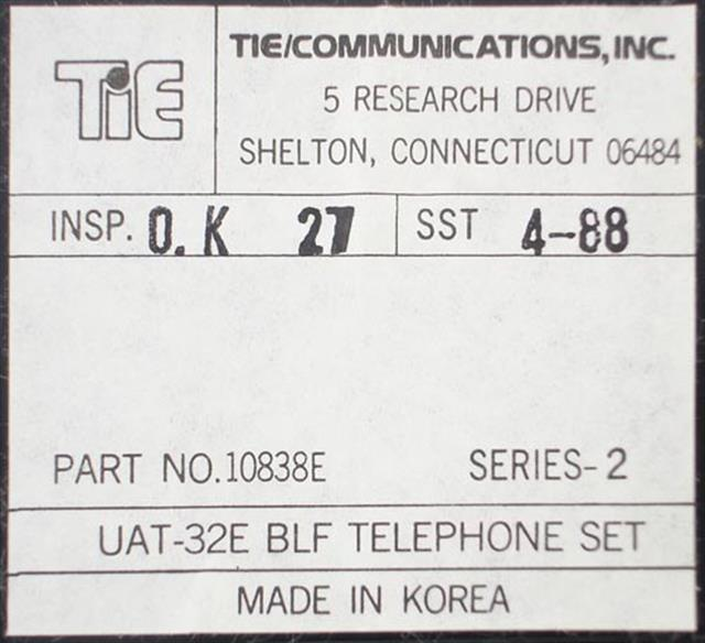 Tie 10838E - UAT-32E BLF (B-Stock) Phone image