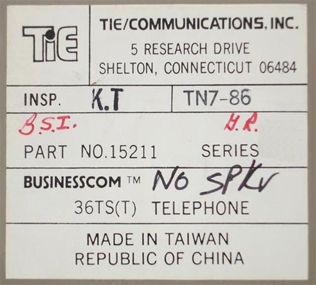 Nitsuko - Tie 15211 (B-Stock) Phone image