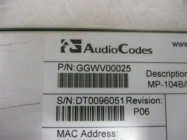 GGWV00025 AudioCodes image