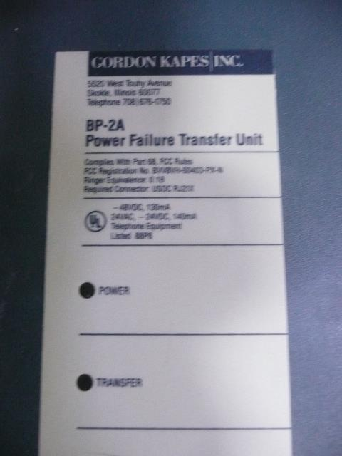 BP-2A Gordon Kapes, Inc image