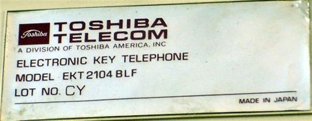 2104 BLF Toshiba image