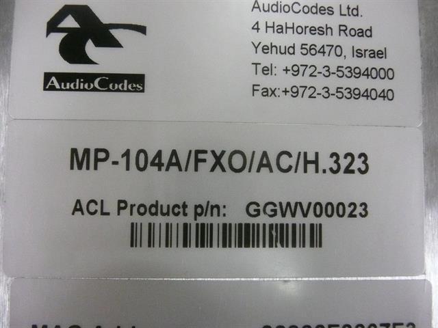 GGWV00023 AudioCodes image