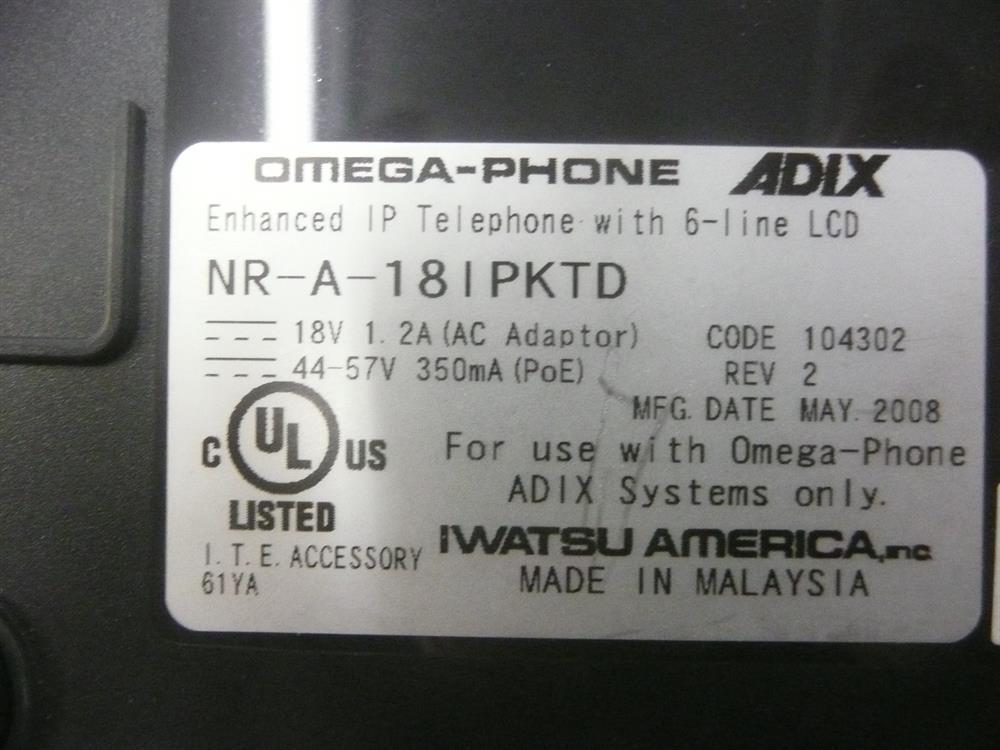 18i (104302) / NR-A-18IPKTD  Iwatsu image
