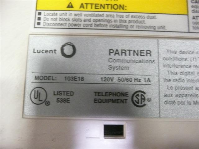 103E18 (107659054) AT&T/Lucent/Avaya image