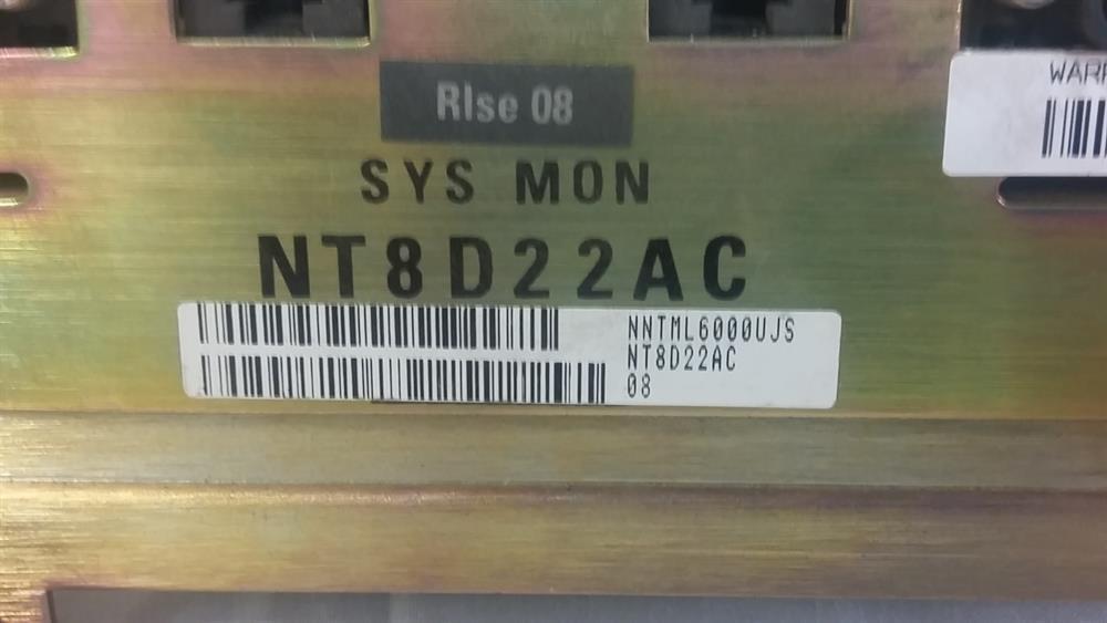 NT8D22AC / NT7D10CA SYS MON Nortel image