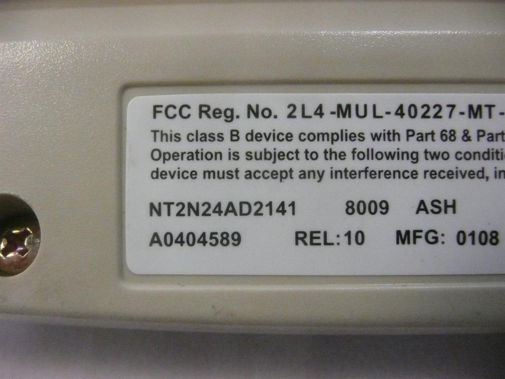 M8009 (NT2N24) Ash Nortel image