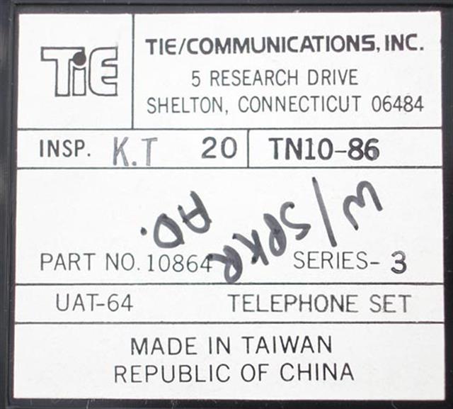 Tie 10864 - UAT-64 (B-Stock) Phone image