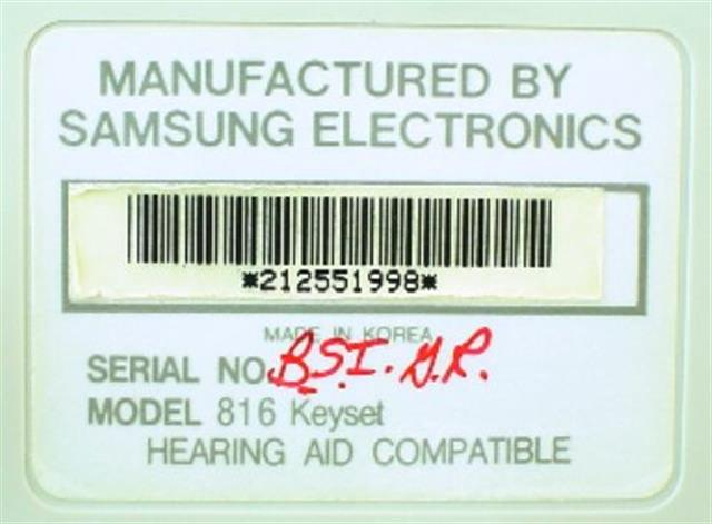 816 STD 16A (B-Stock) Samsung image