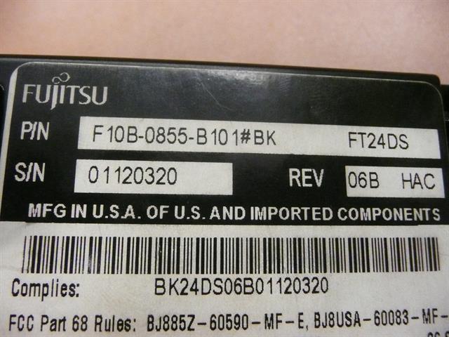 F10B-0855-B101#BK Fujitsu image