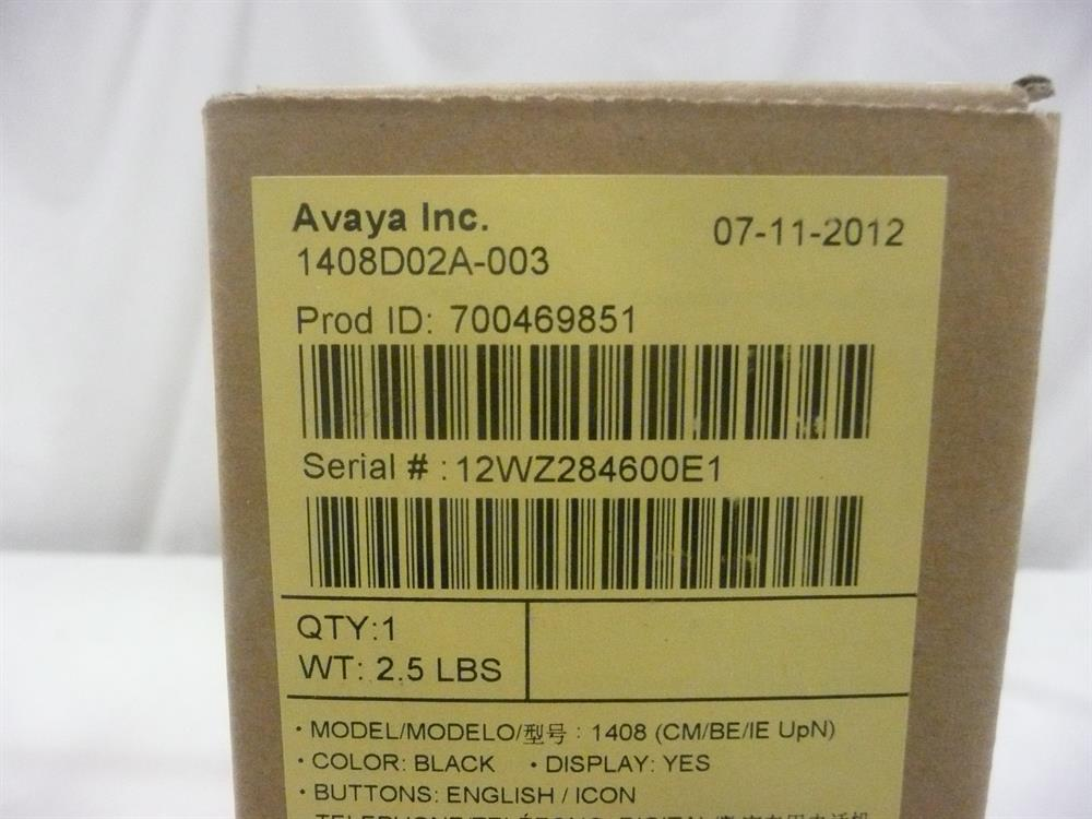 1408 / 700469851 (NIB) New In Box Avaya image