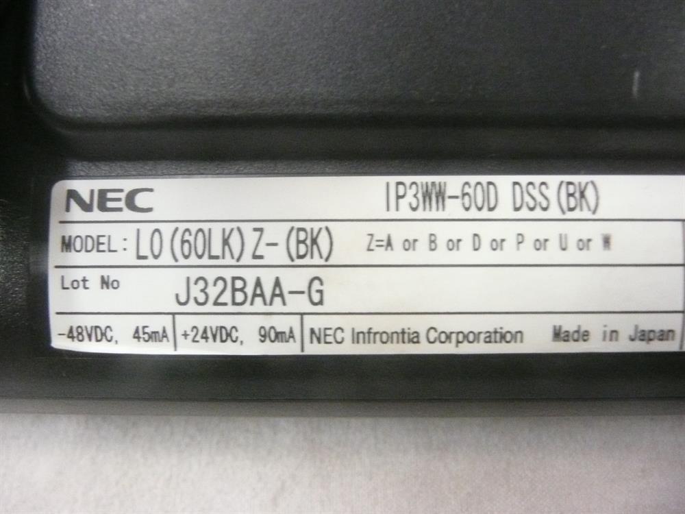 NEC Univerge UX5000 IP3WW-60D 0910094 60 Button DSS/BLF ConsoleConsole image
