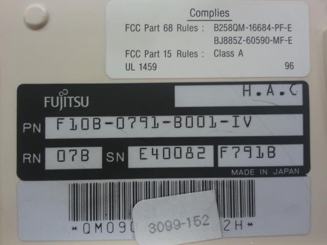 F10B-0791-B001#IV Fujitsu image