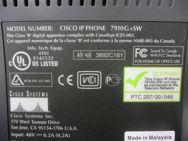 CP-7910G (NIB) Cisco image