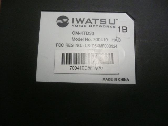 OM-KTD30 / 700410 Iwatsu image