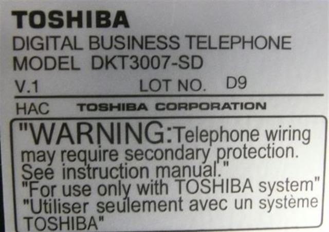 DKT3007-SD Toshiba image