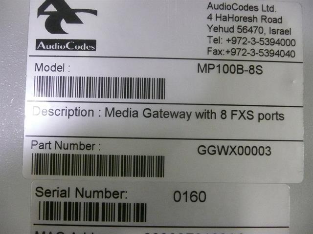 GGWX00003 AudioCodes image