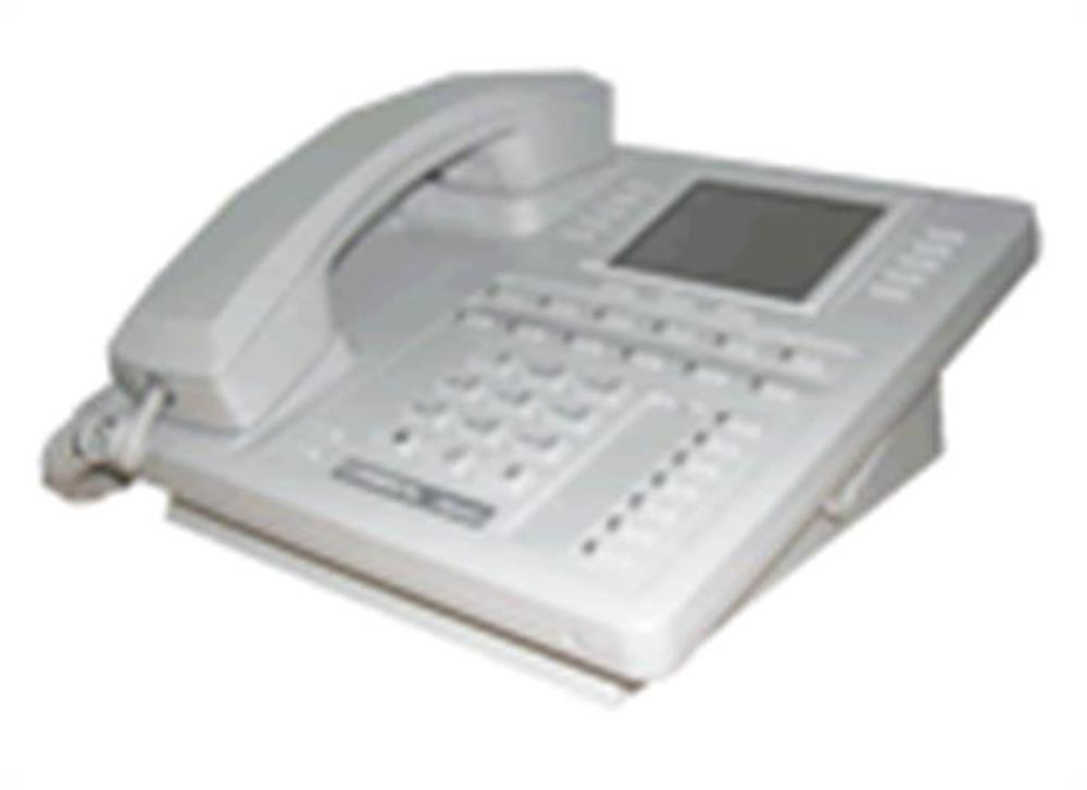 Comdial Impact SCS 8412S-PT Platinum Grey 12 Button Digital Telephone with Speakerphone and Large Screen Display image
