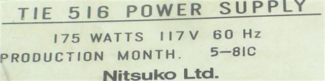 Tie EK-516 Power Supply image