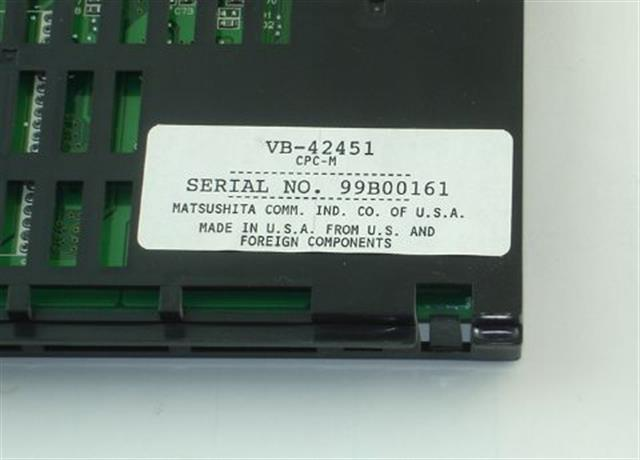 Panasonic VB-42451 Circuit Card image