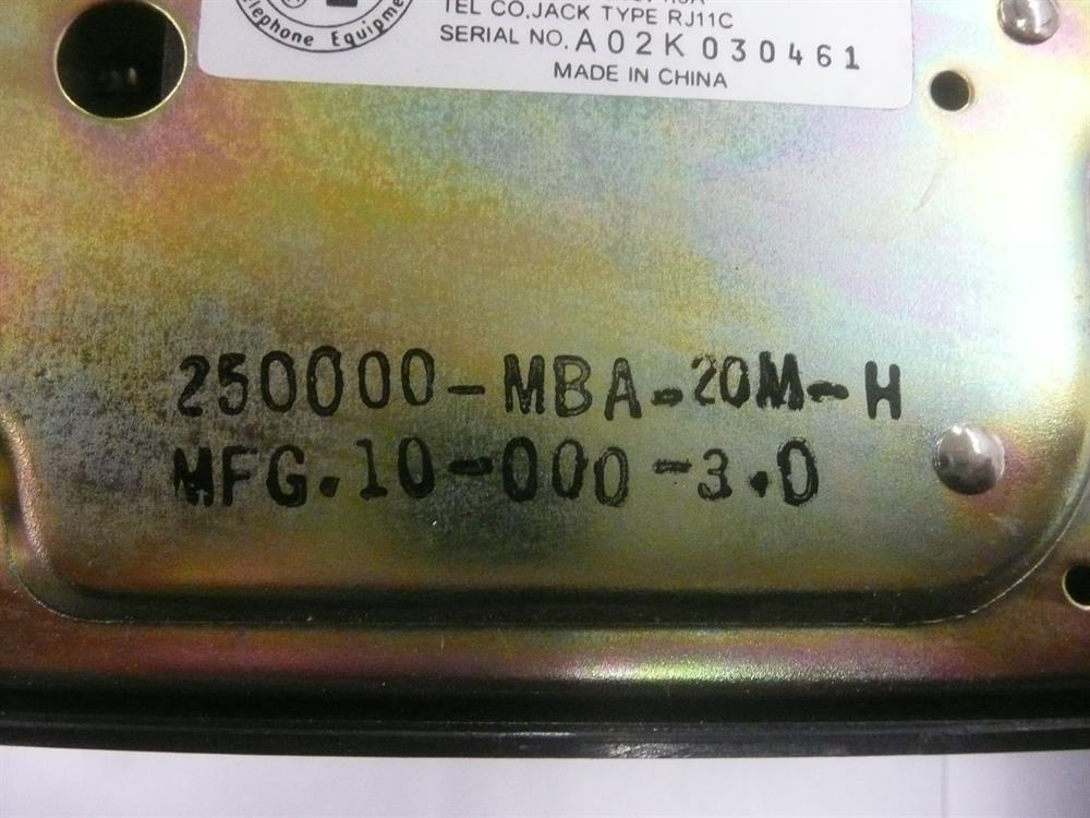 250000-MBA-20M Cortelco image