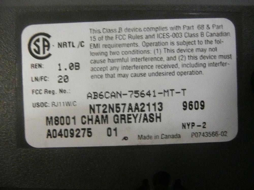 M8001 / NT2N57AA - (B-Stock) Nortel image
