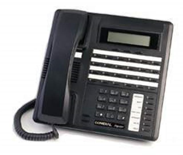 Comdial Impact SCS 8324F-FB Flat Black 24 Button Digital Telephone with Full Duplex Speakerphone and Display image