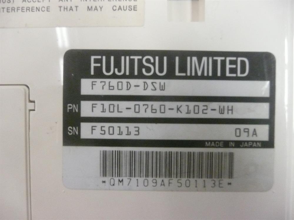 F10L-0760-K102-WH / F760D-DSW Fujitsu image