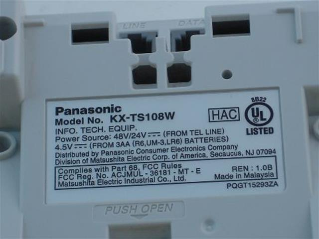 KX-TS108W Panasonic image