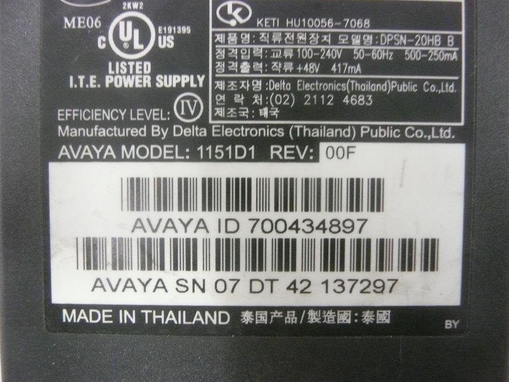 1151D1 / 700434897 / DPSN-20HB-B Avaya image