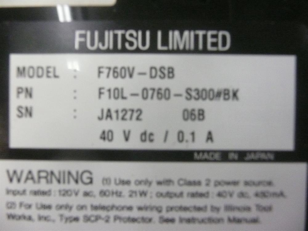 F10L-0760-S300#BK / F760V-DSB Fujitsu image
