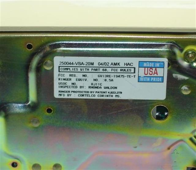 250044-VBA-20M ITT Cortelco eOn image