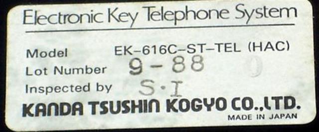 EK-616C-ST-TEL (HAC) - Black Kanda image