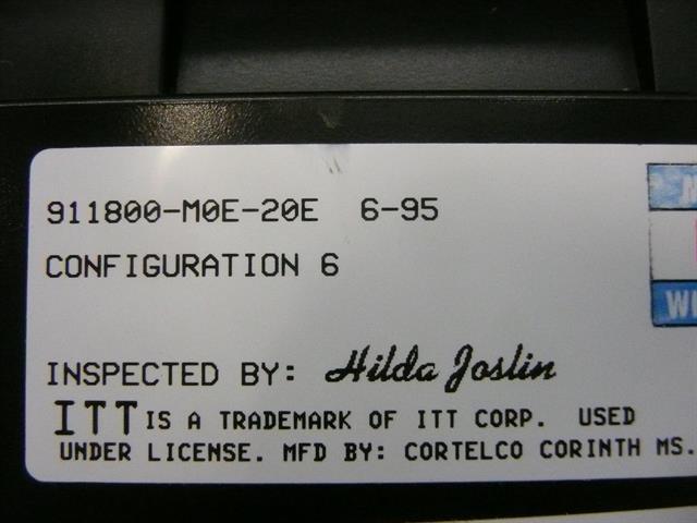 911800-M0E-20E Black Small Display ITT Cortelco eOn image